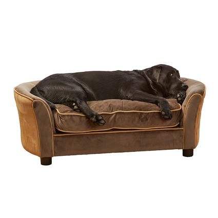 Ultra Plush Panache Pet Sofa, Brown