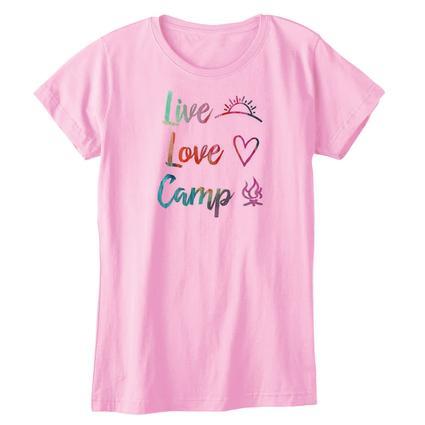 Womens Live, Love, Camp, L