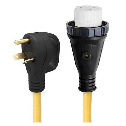 25 30 Amp Male to 50 Amp Female Pigtail Adapter