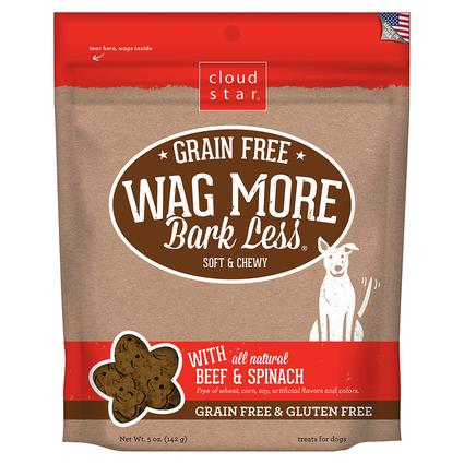 Wag More Grain Free Beef Spinach Treats, 5 oz.