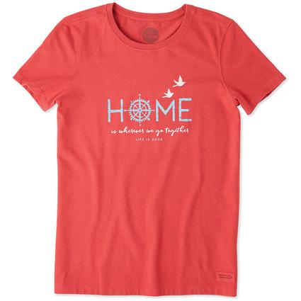 Life is Good Women's Compass Crusher Tee, Large