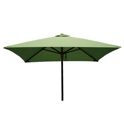 Classic Wood Square Patio Umbrella - Lime, 6.5'