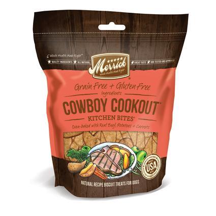 Merrick Kitchen Bites Dog Biscuits, Cowboy Cookout, 9 oz.