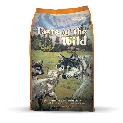 Taste of the Wild High Prairie Puppy Formula with Roasted Bison Roasted Venison, 30 lb. Bag