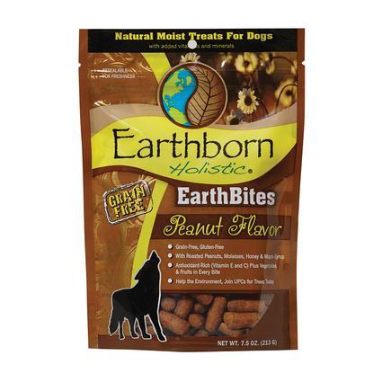EarthBites Grain Free Dog Treats, 7.5 oz. Resealable Bag, Peanut