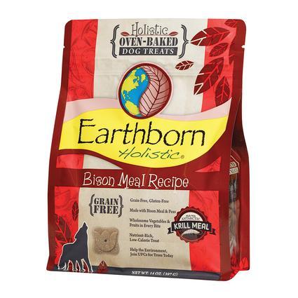 Earthborn Holistic Oven-Baked Dog Treats, 14 oz. Bag, Bison Biscuits