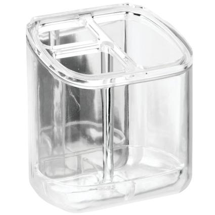 AFFIXX Clear Toothbrush Toothpaste Holder