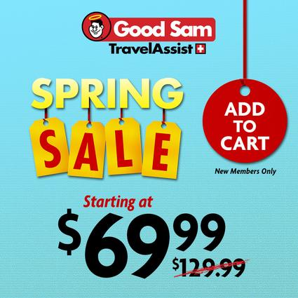 1 Year of Good Sam Travel Assistance- $79.99 $15 Bonus Cash