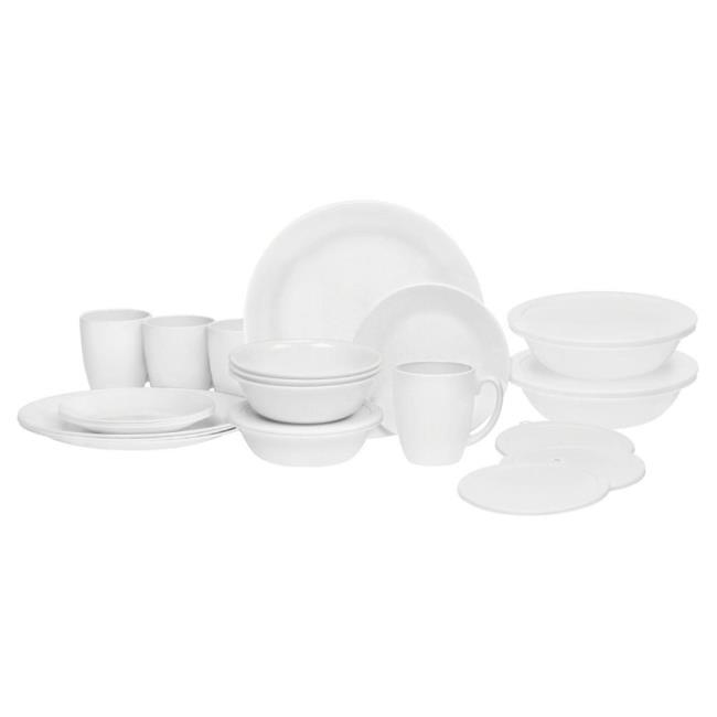 Image Corelle ® Livingware ™ 24-piece Dinnerware Set Winter Frost White. To .  sc 1 st  C&ing World & Corelle ® Livingware ™ 24-piece Dinnerware Set Winter Frost White ...