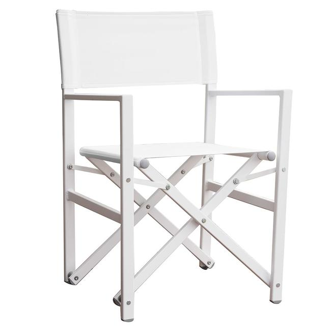 Exceptionnel Image Studio Aluminum Folding Directoru0026aposs Chair, White. To Enlarge The  Image, Click Or .