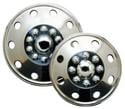 Set of 4 Namsco Stainless Steel Wheel Covers 16.5