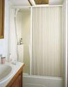 Pleated Shower Door, White - Up to 48