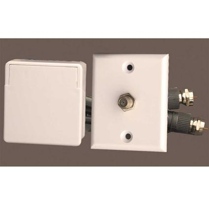 Cable TV Weatherproof Interior/Exterior Connector Kit