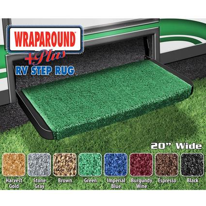 Wrap Around Plus RV Step Rug - Green, 20