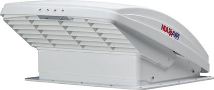 MaxxFan Deluxe Manual-Opening RV Ventilator System, White Lid