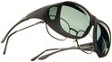 Cocoons OveRx Sunglasses - Larger, Black Frame/Gray Lens