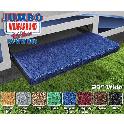 Jumbo Wraparound Plus RV Step Rug - Imperial Blue