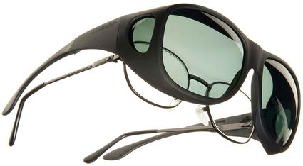 Cocoons OveRx Sunglasses - Larger, Black Frame/Gray Lens