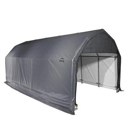 Barn Shelter 12 x 28 x 11 Gray Cover