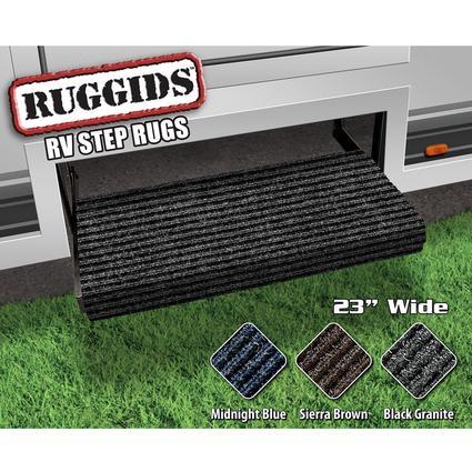 Ruggids RV Step Rug - Black Granite