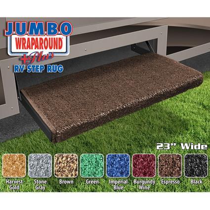 Jumbo Wraparound Plus RV Step Rug - Espresso