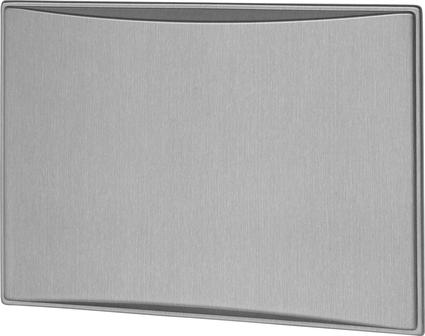 New Generation 7.0CF Refrigerator Door Panels, Contoured - Brushed Aluminum