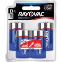 Rayovac D Batteries, 4-Pack