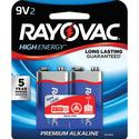 Rayovac 9-Volt Batteries, 2-pack