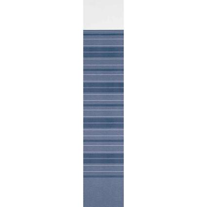 Single-Sided Vinyl Replacement Fabric for Dometic Sunchaser Patio Awning, Blue, 15'