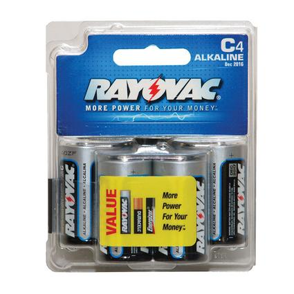 Rayovac C Batteries, 4-pack