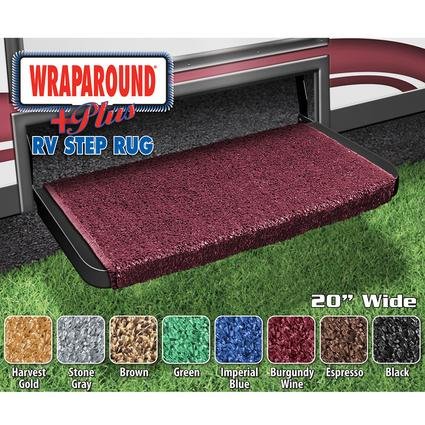 Wraparound Plus RV Step Rug - Burgundy Wine, 20