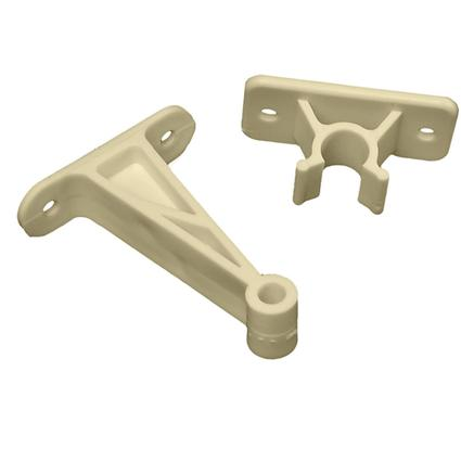 Entry Door Holder - Plastic Clip, 3 Inch Colonial White