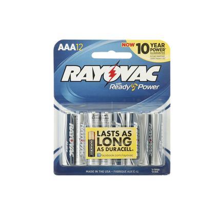 Rayovac AAA Batteries, 12-pack