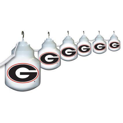 Collegiate Patio Globe Lights, 6 light set - Georgia