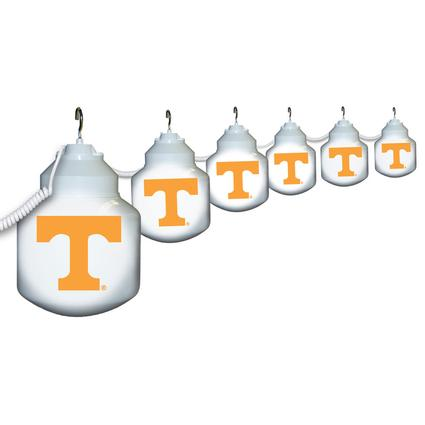Collegiate Patio Globe Lights, 6 light set - Tennessee