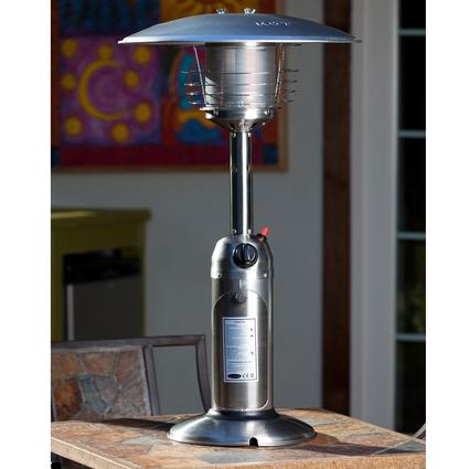 Table Top Patio Heater – 10,000 BTU – Stainless Steel
