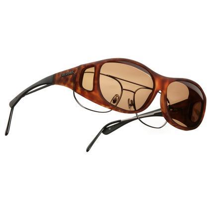 Cocoons OveRx Sunglasses - Slim Line Medium, Tortoise Frame/Amber Lenses