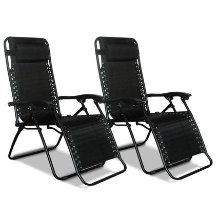 Zero Gravity Recliner, Black - 2 Pack