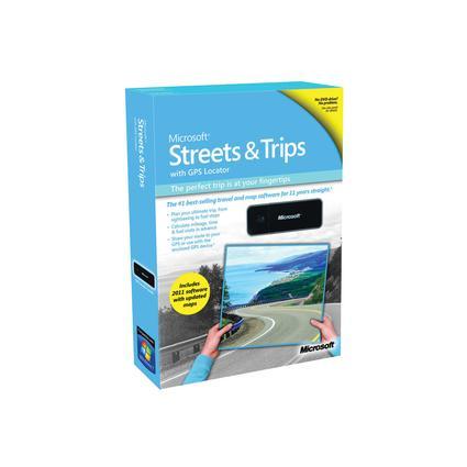 Microsoft Streets & Trips 2011 With GPS Locator