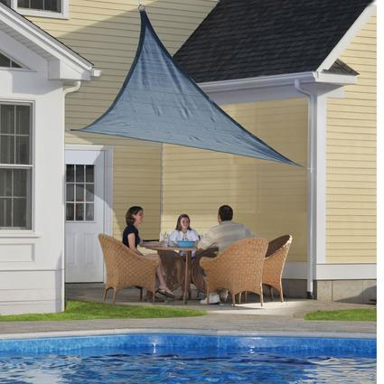 ShadeLogic Sun Shade Sail, Triangle- Sea