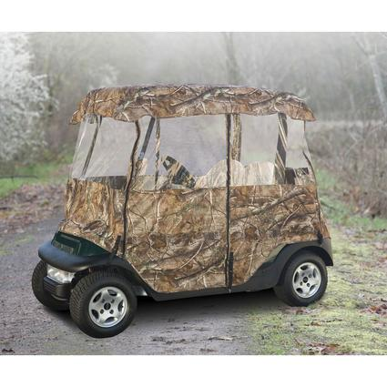 Deluxe Camo Golf Car Enclosure