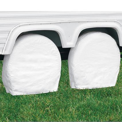 White RV Wheel Covers, Set of 2
