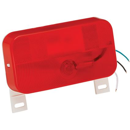 Surface Mount Tail Lights #92 Series- Red Stop/Tail/Turn Light with License Light & Bracket with White Base