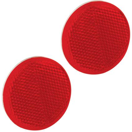 "Round Reflectors, 2 3/16"" dia.- Red"