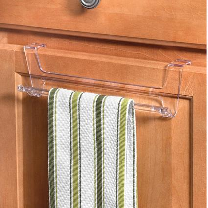 Clear Hook Over Cabinet/Drawer Towel Rack