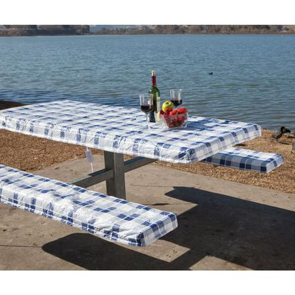 Deluxe Picnic Tablecloth Seat Covers