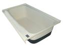 RV Bath Tub Left Hand Drain TU700LH - Polar White