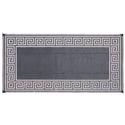Reversible Greek Motif Patio Mat 6' x 9' - Black