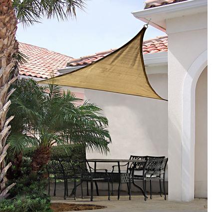 ShadeLogic Sun Shade Sail, Triangle- Sand