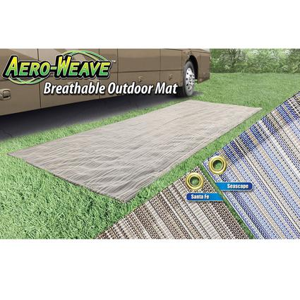 Prest-O-Fit Aero-Weave Breathable Outdoor Mat, 6' x 15', Santa Fe